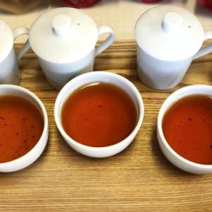紅茶を製造中
